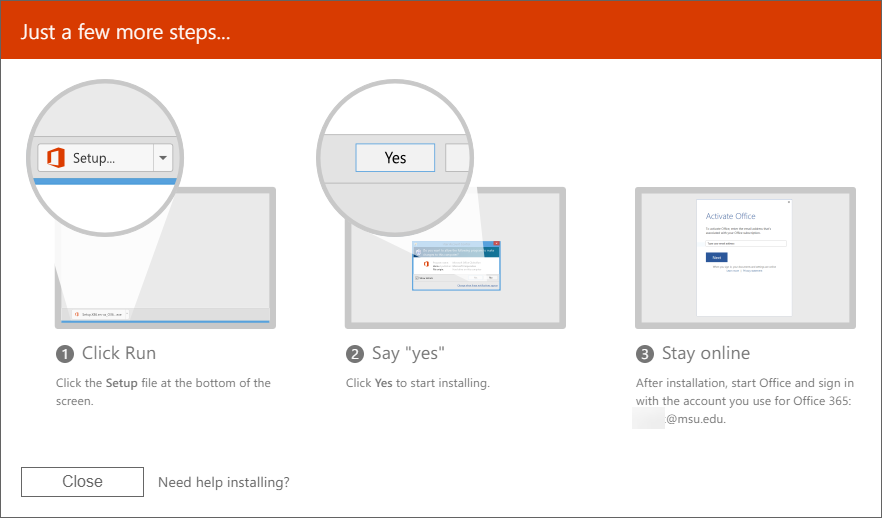 Downloading and Installing Office 365 Software for Windows - ANR