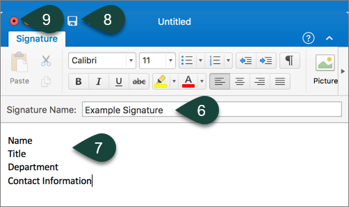 Creating and Setting Signatures in Outlook for Mac - ANR