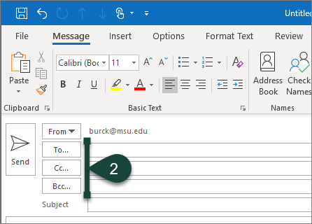 Searching the Global Address Book in Outlook - ANR
