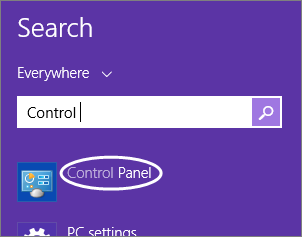 Windows 8.1 Search Panel