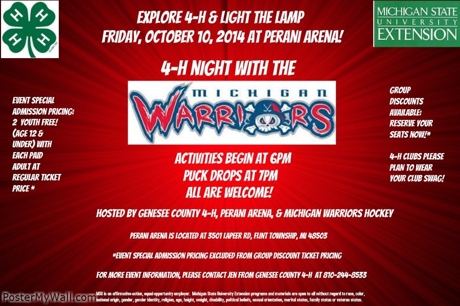 Michigan Warriors flyer