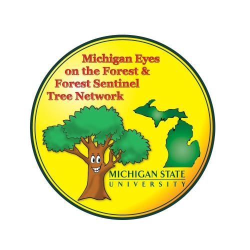 photo of Michigan Eyes on the Forest & Forest Sentinel Tree Network logo