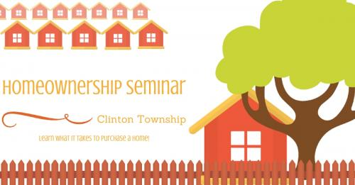 Picture of clinton township homeownership seminar banner.