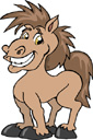 Clip art picture of a horse.