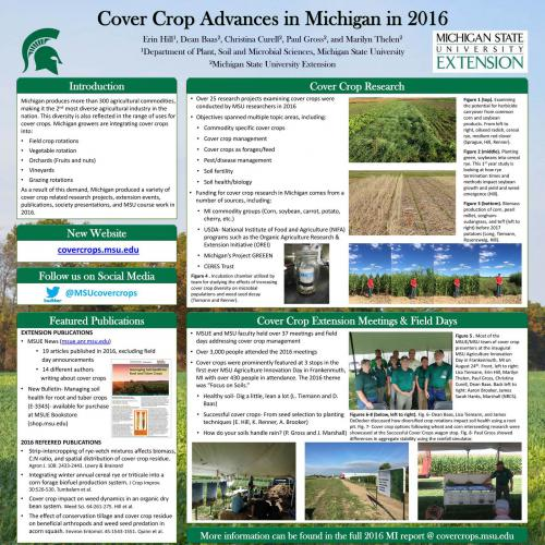 2016 MI cover crop activities poster