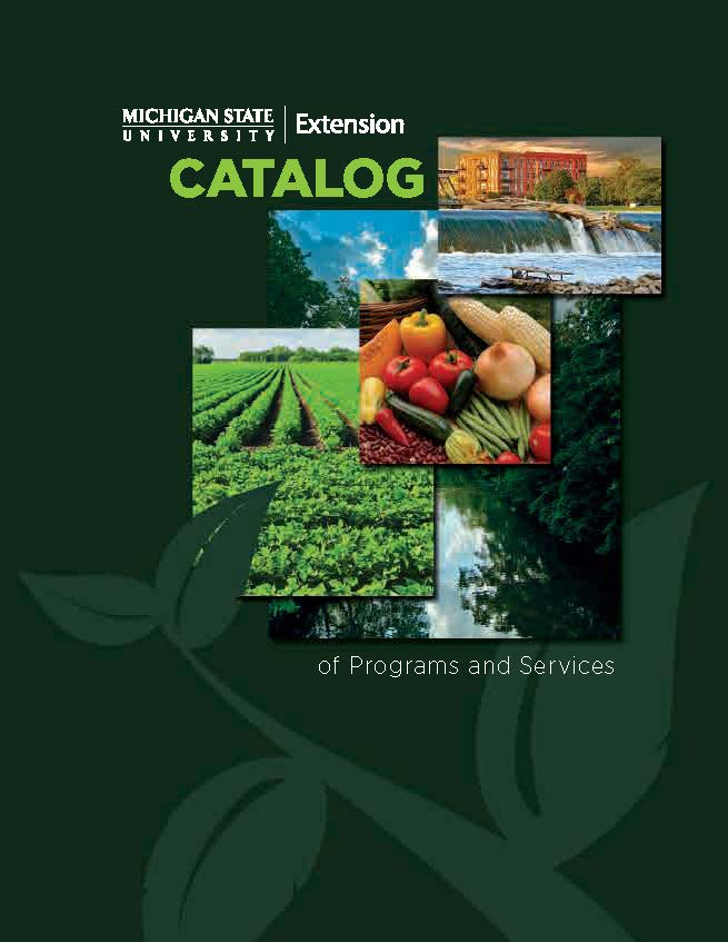 MSU Extension catalog of programs and services cover