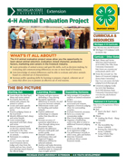 MI 4-H Animal Evaluation Project Snapshot