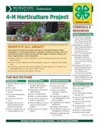 MI 4-H Horticulture Project Snapshot