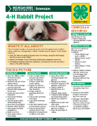 MI 4-H Rabbit Project Snapshot