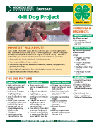 MI 4-H Dog Project Snapshot