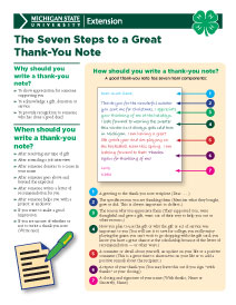 ''The Seven Steps to a Great Thank-You Note""