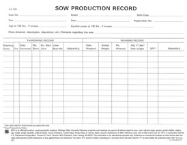 Sow Production Record