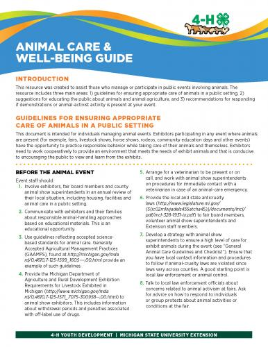 Animal Care and Well-Being Guide