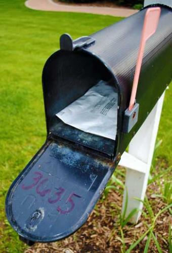 Soil kit in mailbox