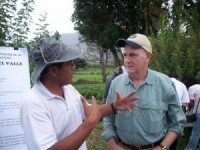Dr. Kelly with colleague Angel Murillo in Ecuador.