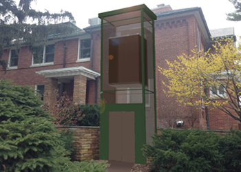 Proposed Elevator Rendering for Cowles House