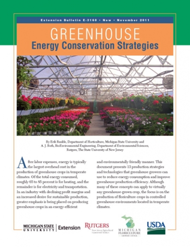 Greenhouse Energy Conservation Strategies bulletin