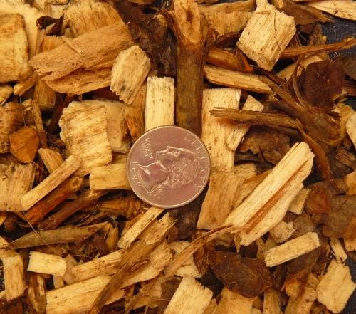Conventional mix of wood chips. Some systems have stricter chip specifications than other systems.
