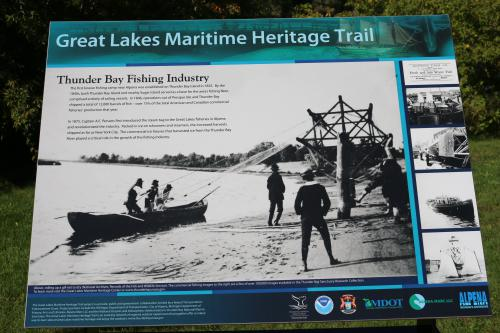 Image of Fishery Heritage Trail historical sign