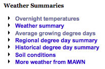 Weather summaries
