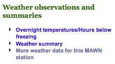 Weather observations and summaries