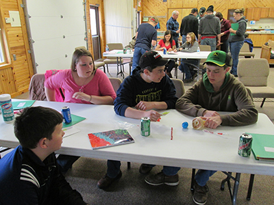 Youth learning animal science lessons