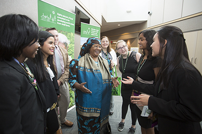 Yesha Patel (2nd from right) with President Joyce Banda (former president of Malawi)