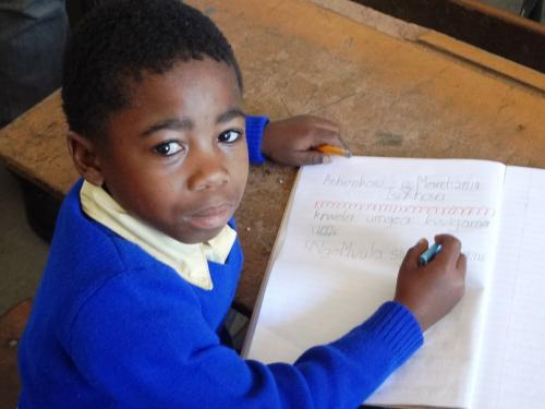 South African child learning