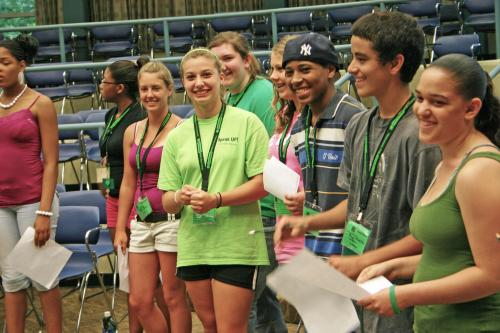 Group of youth at 4-H Exploration Days.