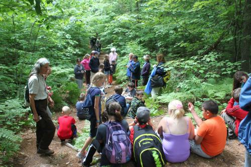 CHILDREN CAMPERS HIKING