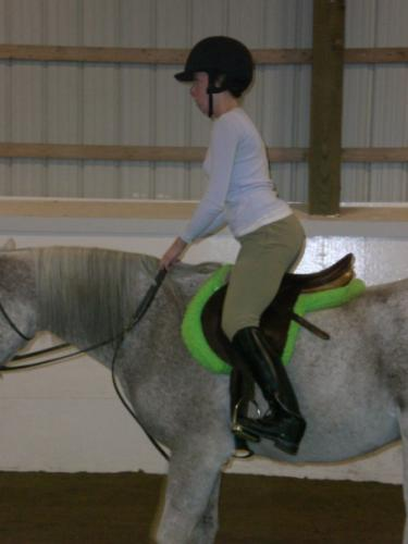 Horseback riding, 2-point position