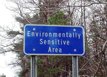 Environmentally Sensitive Area sign