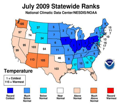 July 2009 Statewide Ranks