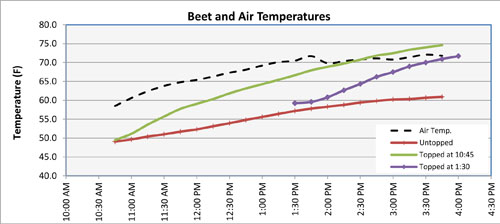 Beet and air temperatures
