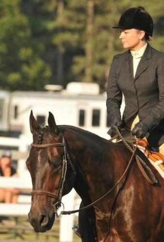 Taylor Fabus and her wonder horse OZ.