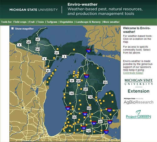 Enviro-weather Map of Michigan
