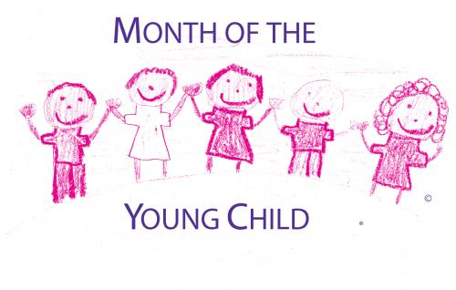 Month of the Young Child logo. Registered trademark of Michigan Association for the Education of Young Children.