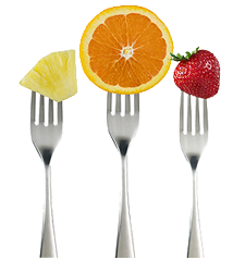 FORKS WITH FRUIT