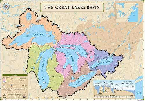 Geography Links For Kids - Us map with st lawrence river
