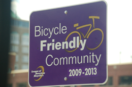 Bicycle Friendly Community sign