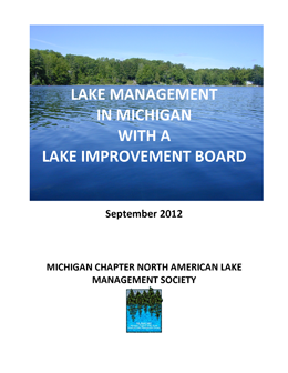 Cover of Lake Management manual