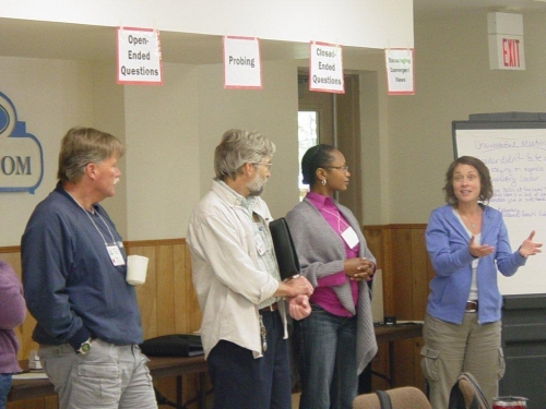 """Learning Basic Facilitation Techniques"", photo by Dr. Lela Vandenberg, MSUE Professional Development Specialist"