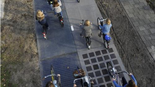 solar bike path in the Netherlands