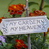 My garden my heaven sign