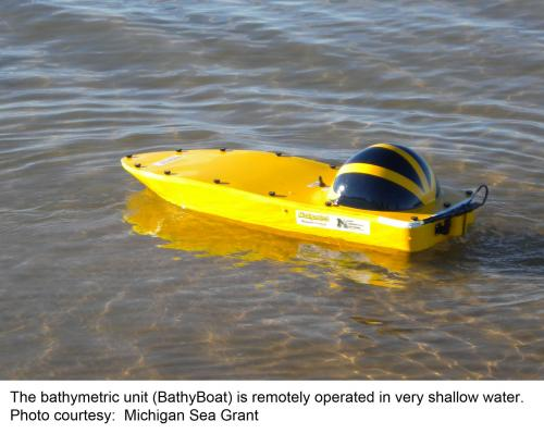 Bethymetric Unit used for dection of dangerous currents image.