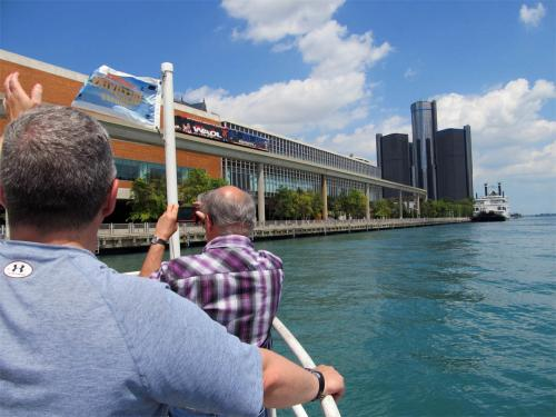 Detroit skyline from Summer Discovery Cruises June 2013 image