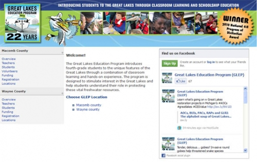 Great Lakes Education Program website