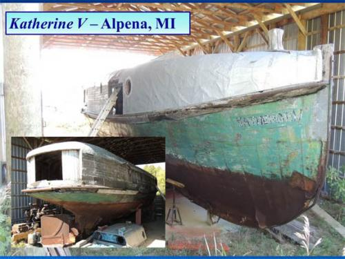 Katherine V shipwreck on Lake Huron