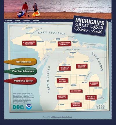 Michigan Great Lakes Water Trails web image