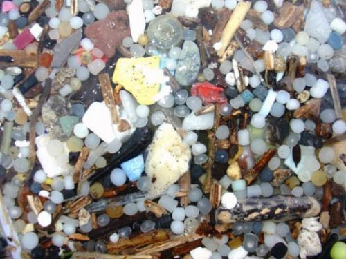 Microplastics image from NOAA.